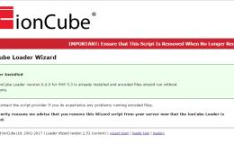 windows系统 ioncube loader详细安装过程